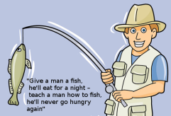 Teach to fish