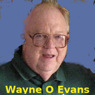 "Wayne Headshot with text ""Wayne O Evans"